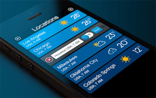 Designrshub Forecast: 20 Cool Weather App Designs