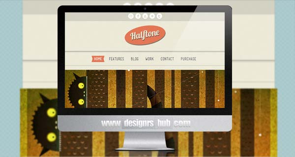 Halftone - Retro WordPress Theme