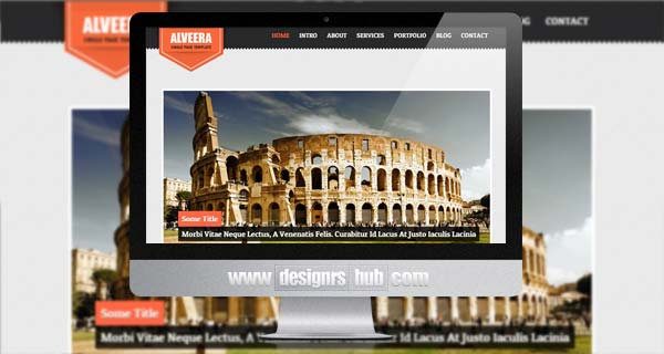 Alveera - Responsive HTML5 Single Page WordPress