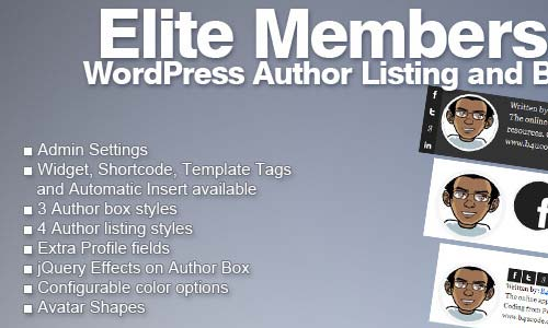 Elite Members - WordPress Author Listing and Box
