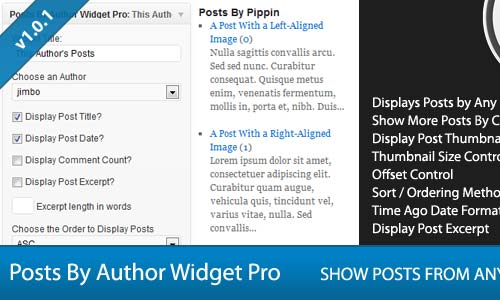 Posts By Author Widget Pro for WordPress