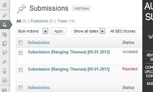 Author Submit File - WordPress Submission Plugin