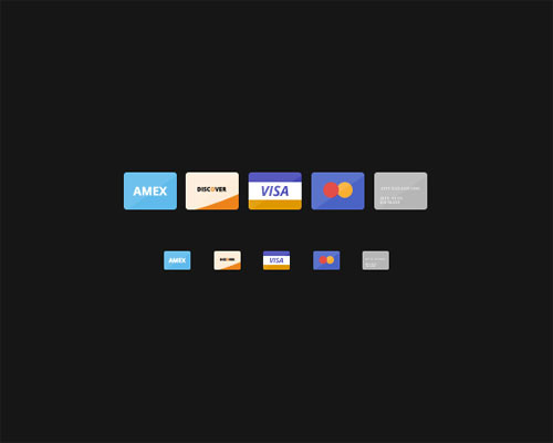 Flat Credit Cards (With PSD)