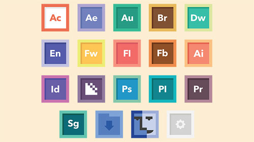 Free Flat Adobe Icon Set