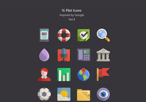 20 Free Flat Icon Sets to Accompany Flat Websites