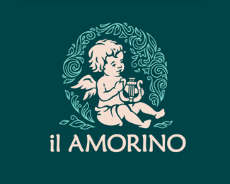 Angel Logo Design - Amorino