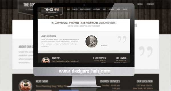 The Good News - Responsive WP Theme For Churches