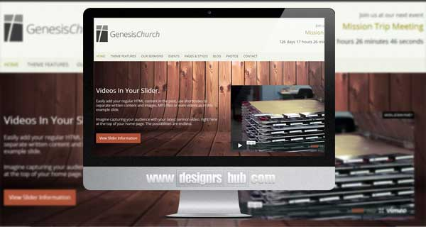 Genesis Church - Premium Responsive WordPress Theme