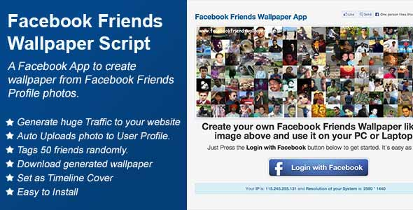 Facebook Friends Wallpaper Application Script