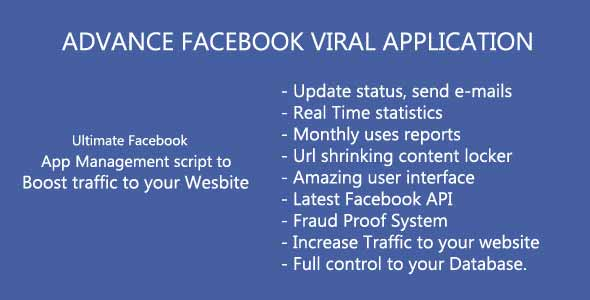 Advanced Facebook Viral Application