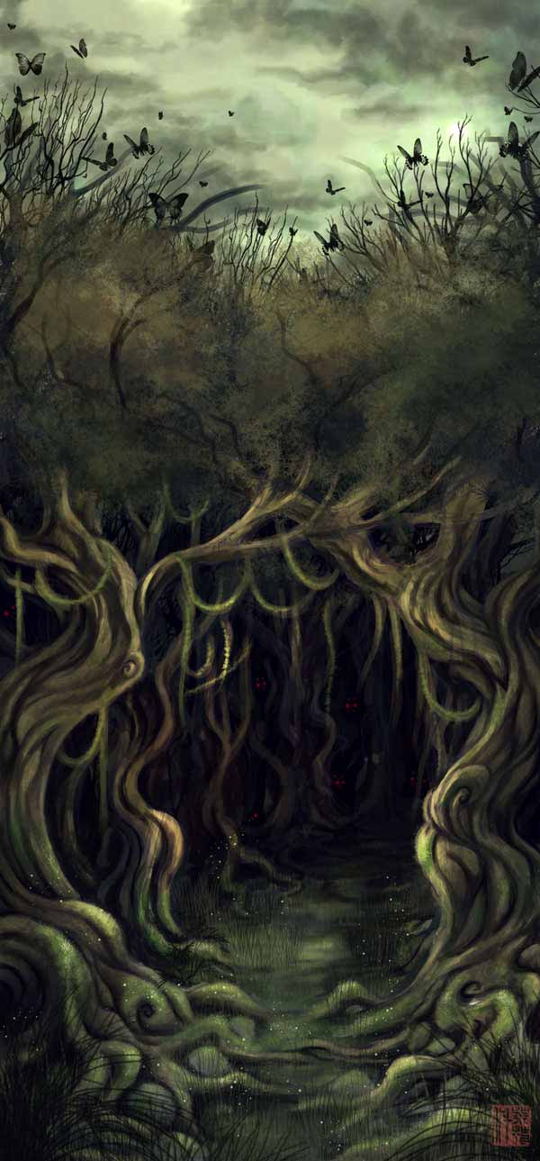 Hobbit Illustration - Mirkwood