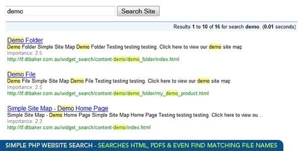 Static HTML Website Search Tool