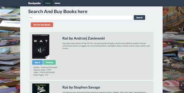 PHP Book Search Engine with Preview and Buy