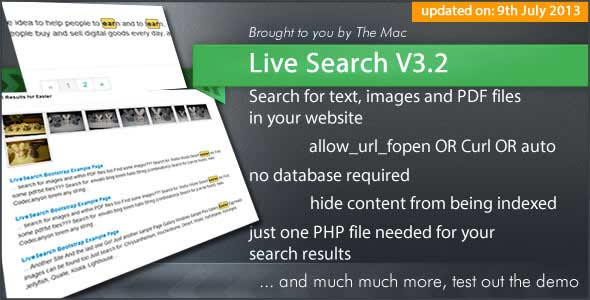 Live Search - Search Engine for your Website