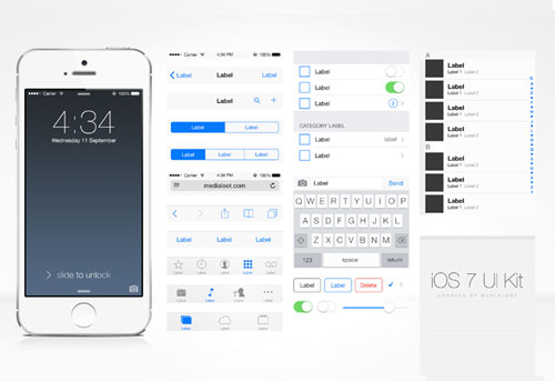 Free iOS 7 UI Kit