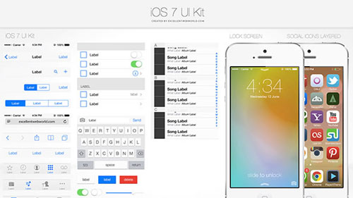 iOS7 UI Kit (PSD)