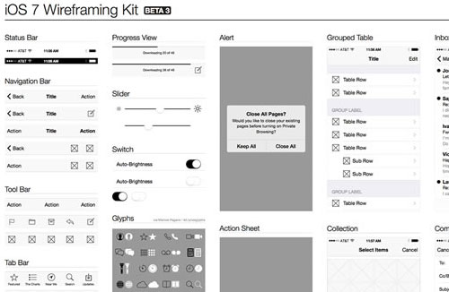 20 free ios 7 user interface kits and templates. Black Bedroom Furniture Sets. Home Design Ideas