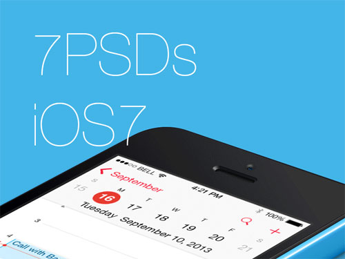 FREE – 7 PSDs from iOS7