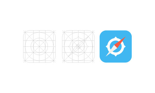 iOS 7 Safari Icon and Grid
