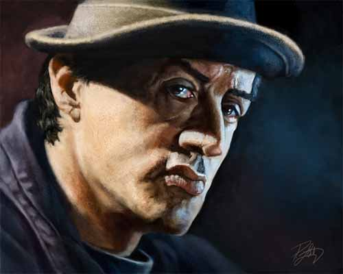 Digital Painting of Sylvester Stallone as Rocky