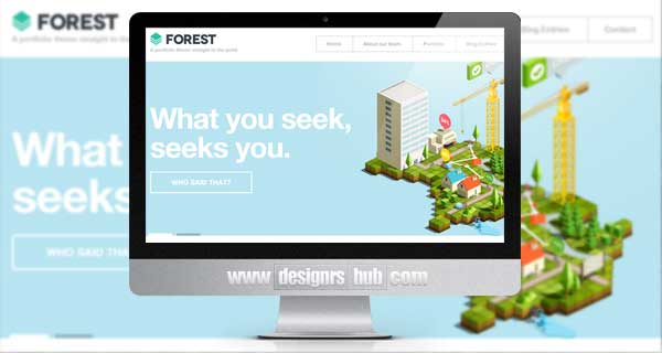 Forest - Flat and Bold Portfolio WordPress Theme