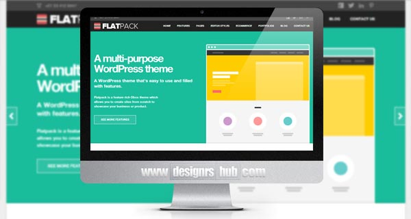 25 Innovative WordPress Flat Themes with Trendy Designs