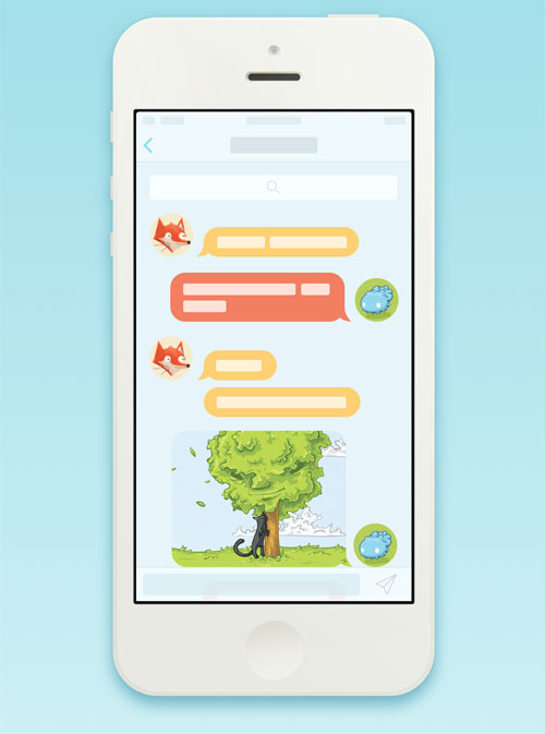 iOS 7 Chat View Interaction (Animation and Freebie)
