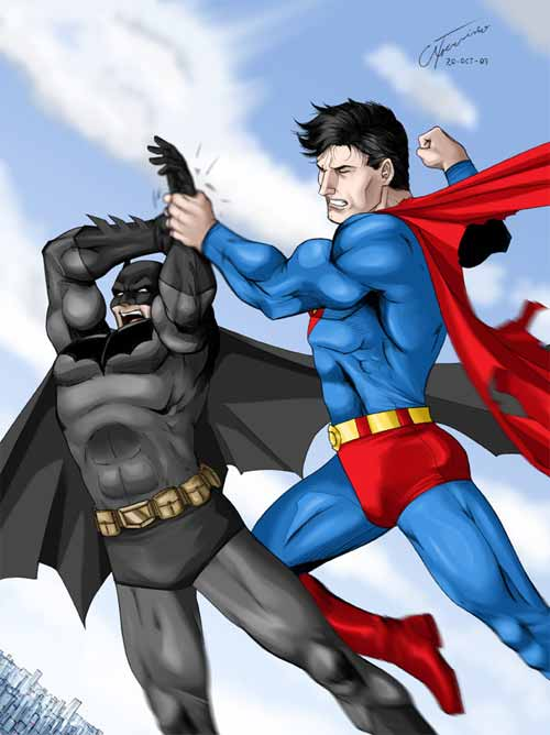Batman vs Superman Illustration