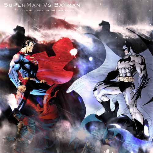Superman Vs Batman Digital Painting