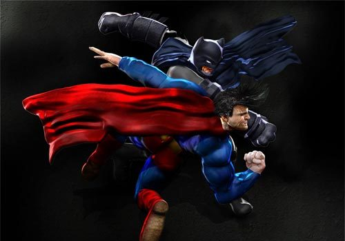 Clash of Super Heroes: 20 Superman vs. Batman Artworks
