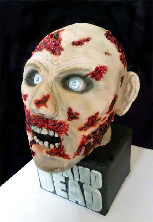 Walking Dead Zombie Head Cake