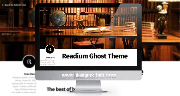 Readium - Free Ghost Theme