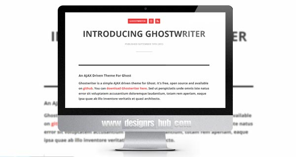 Ghostwriter - Simple AJAX Driven Theme for Ghost