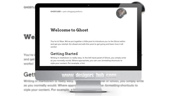 Ghostless - Free Minimalistic Ghost Theme