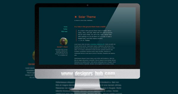 Solar Theme for Ghost Blog