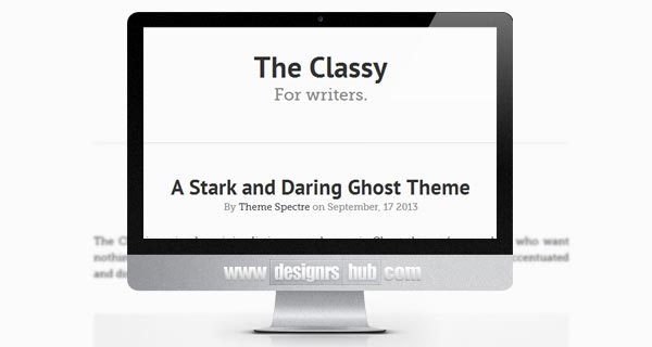 The Classy - Free Ghost Themes