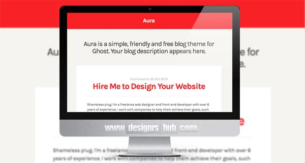 Aura: A Free Theme for Ghost