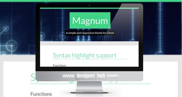 Magnum - Simplistic and Responsive Theme for Ghost