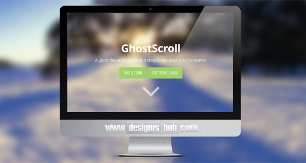 Ghost Scroll - Ghost Theme for One-page Websites
