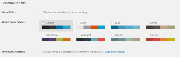 Change the Color Scheme of your Admin Dashboard