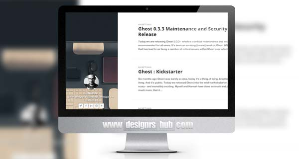 Blogr - Simple Blog Theme for Ghost