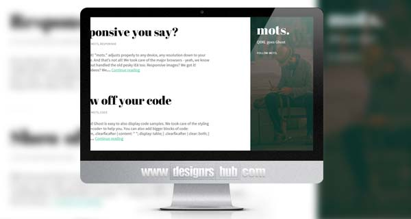 Mots - A Tasteful, Responsive Ghost Theme