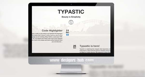 Typastic - Responsive Multi-Purpose Ghost Theme