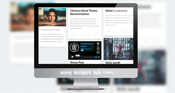 Chimera - Clean Responsive Ghost Theme