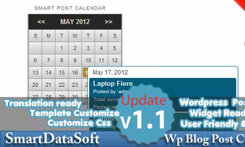 Smart WordPress Blog Post Calendar