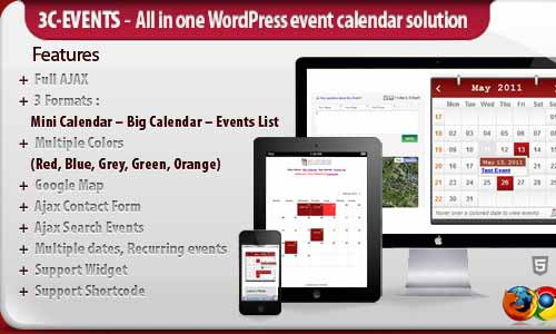 3C Events - WordPress All-in-One Event Calendar