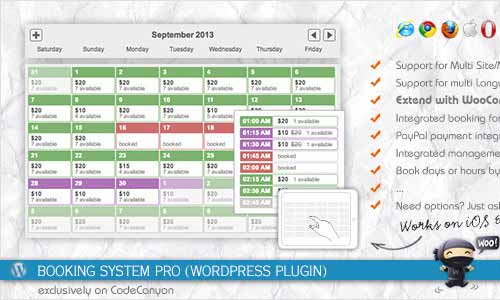 Booking System PRO (WordPress Plugin)