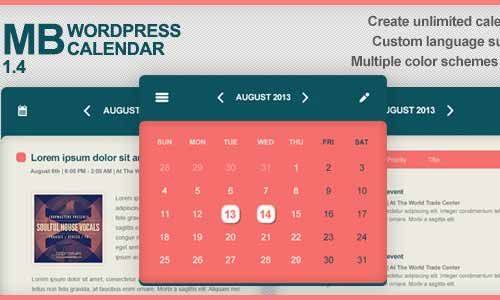 MB WordPress Calendar