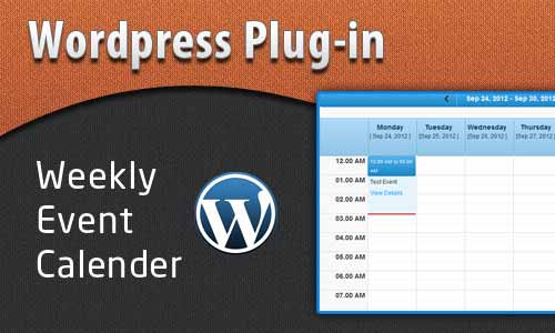 Weekly Calendar WP Plugin