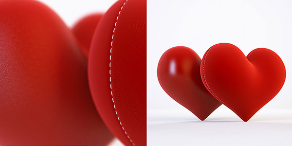 3D Model and 3D Scene with a Heart